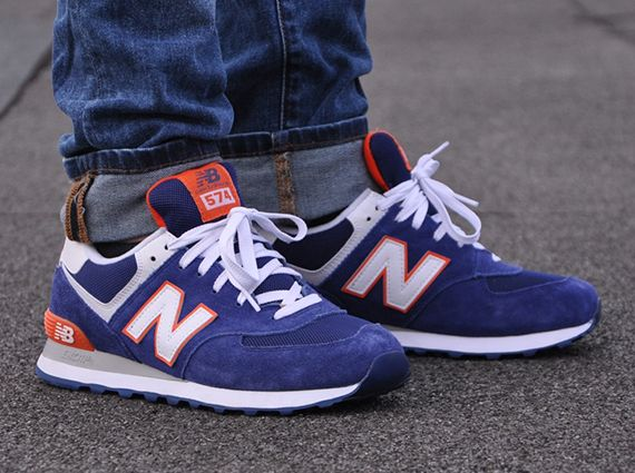 New Balance 574: Royal Blue/Orange | Sneakers: New Balance ...