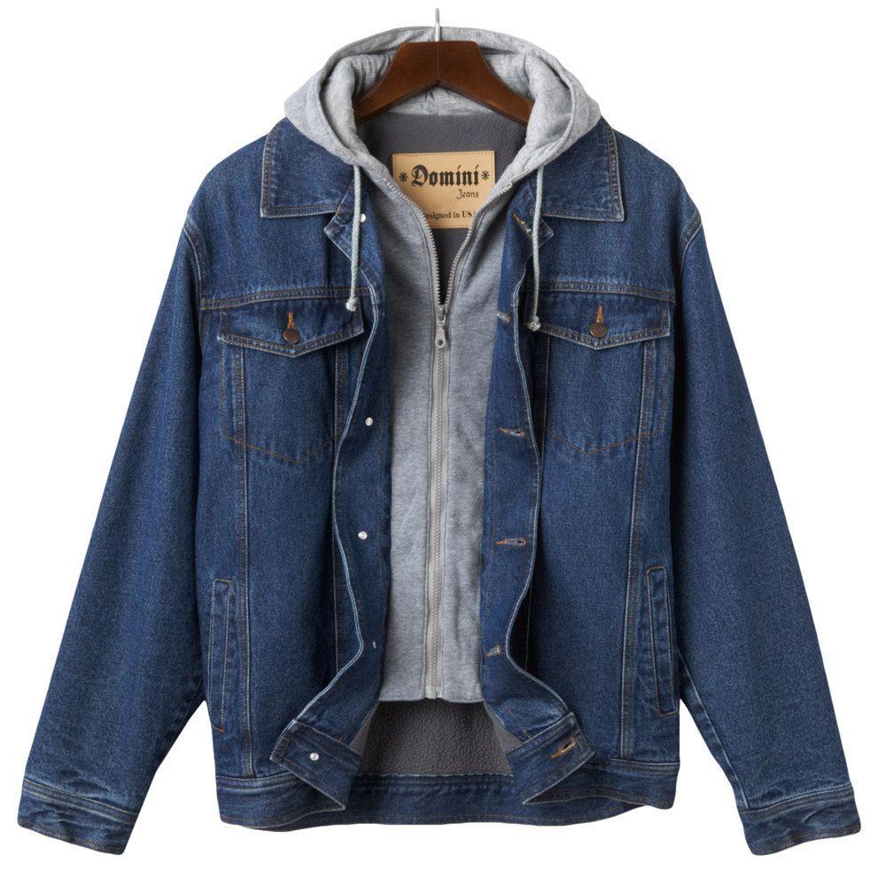 Men S Domini Hooded Denim Jackets Lined Denim Jacket Denim Jacket Men Blue Jacket Men [ 1000 x 1000 Pixel ]