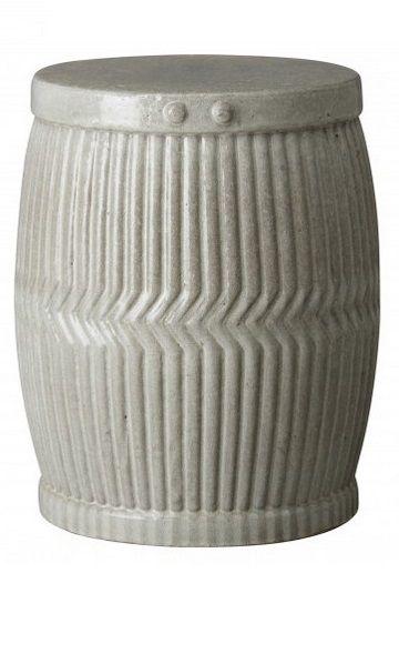 Gray Garden Stool | Gray Ceramic Stools | Gray Porcelain ...