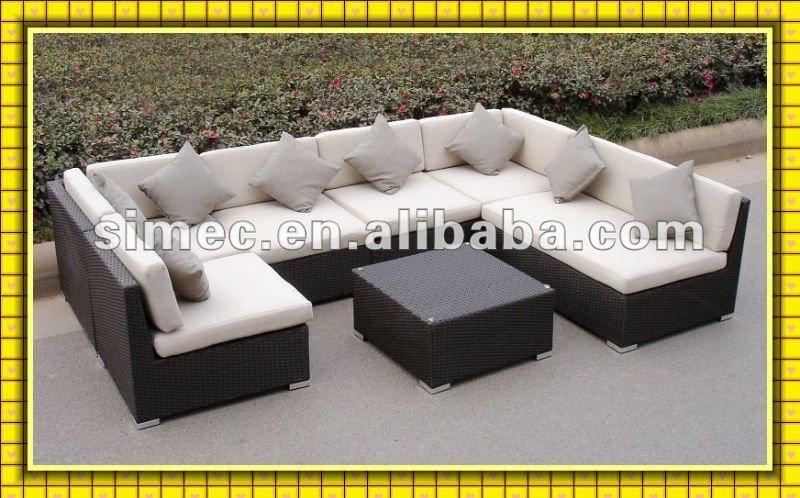 Factory Hot Sale Poly Rattan Garden Furniture Outdoor Ratan Sofa