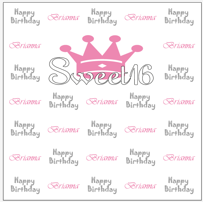 Sweet 16 Step & Repeat Banner 11147 | Sign11.com