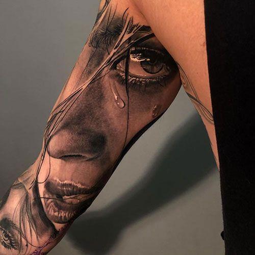 125 best half sleeve tattoos for men: cool ideas + designs (2019 guide) – inner upper arm half sleeve tattoo – best half sleeve tattoos for men …