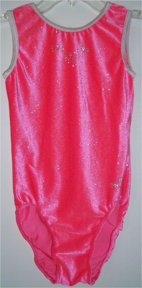Dreamlight Pink Silver Shimmer Velvet Rhinestone Gymnastics Leotard AXS Adult XS #Dreamlight