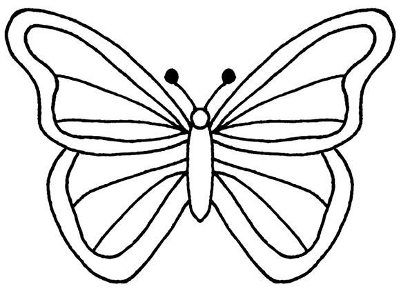 Butterfly Outline Template Free Coloring Pages Templates