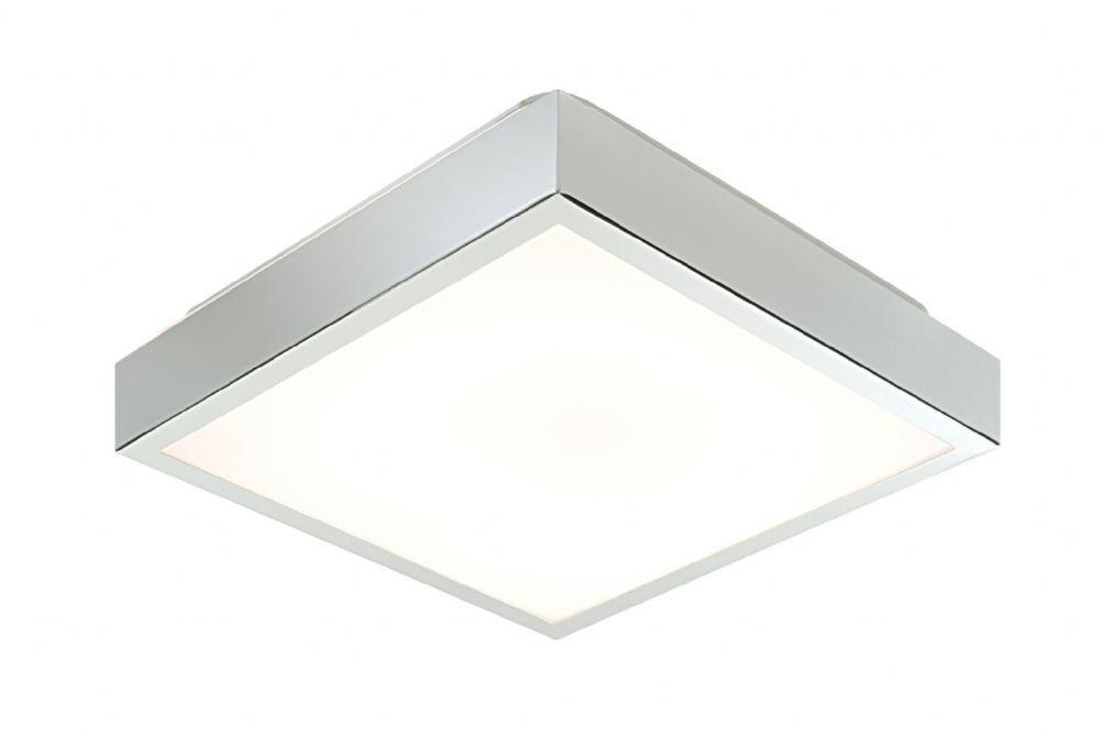 Chrome Effect Plate Matt White Acrylic Flush Ip44 Bathroom Light 28679 By Endon Bathroom Ceiling Light Ceiling Lights Ceiling Mounted Light