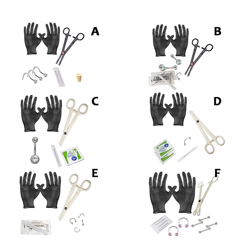 Piercing names body  EG GIFTS Starter Piercing Kit G G G Body Jewelry Forceps