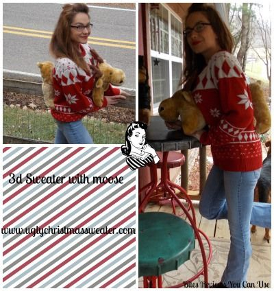 3D Moose Christmas Sweater Giveaway