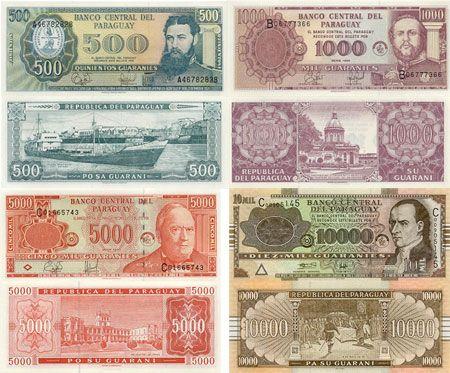 Resultado de imagen para guarani billetes