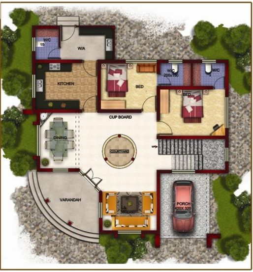 Bungalow 3d Floor Plan: Pin By VIRENDER TOMAR On Designing In 2019