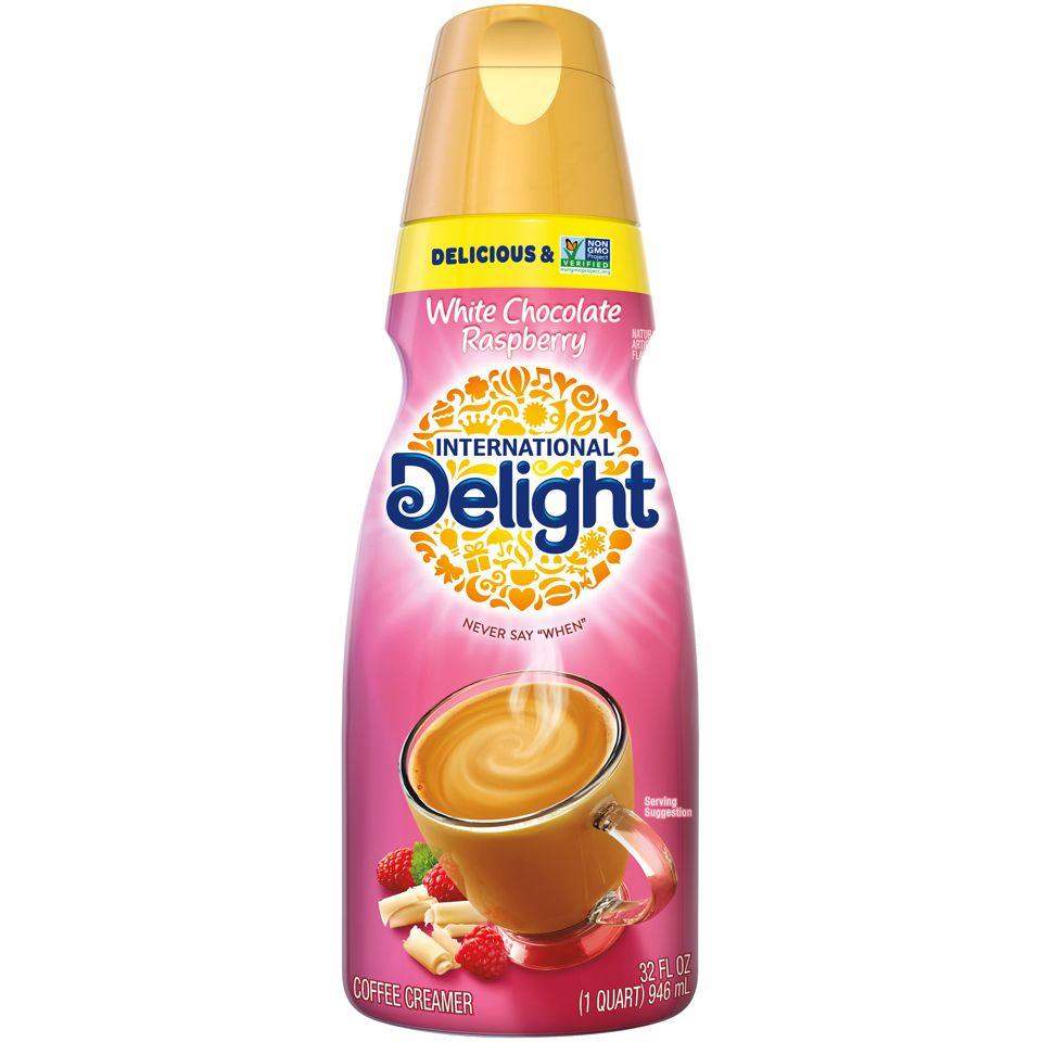 International delight white chocolate raspberry coffee