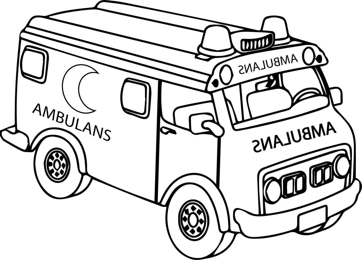 Okul Oncesi Ambulans Boyama Sayfasi Boyama Sayfasi Ciktisi Al