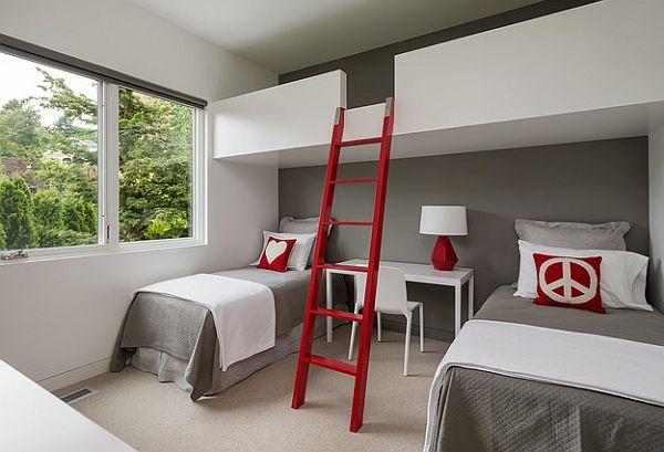 Loft Beds With Desks Underneath 30 Design Ideas With Enigmatic Touch Modern Loft Bed Loft Bunk Beds Loft Spaces