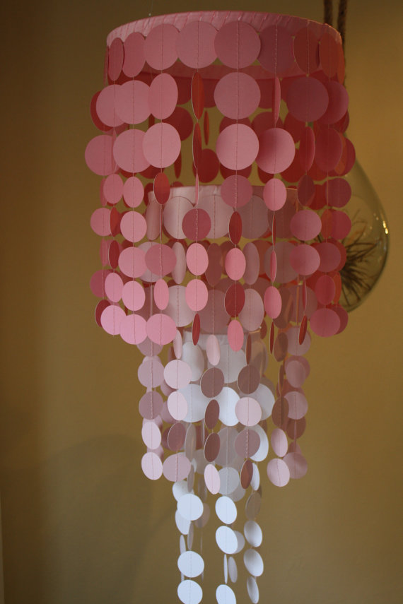 Items Similar To Custom Paper Chandelier Or Mobile Beautiful For Weddings Nurseries Party Decorations On