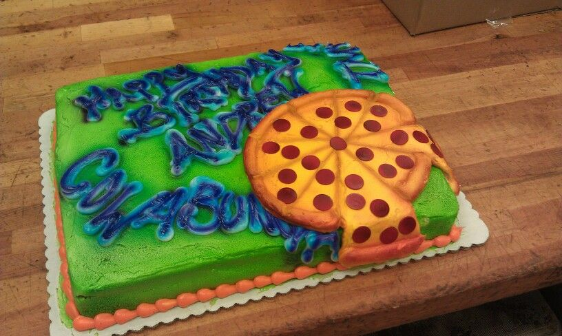 Graffiti Pizza Tmnt Cake Cakes Tmnt Cake Cake Party