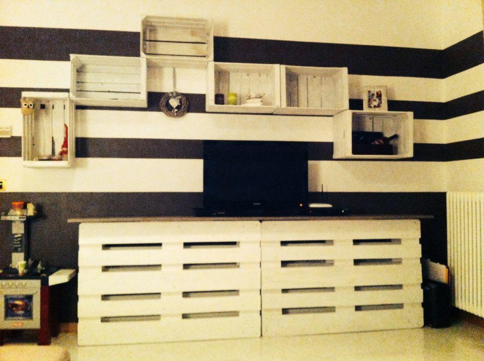 Pallets cassette di legno Arredamento soggiorno | Pallet | Pinterest ...