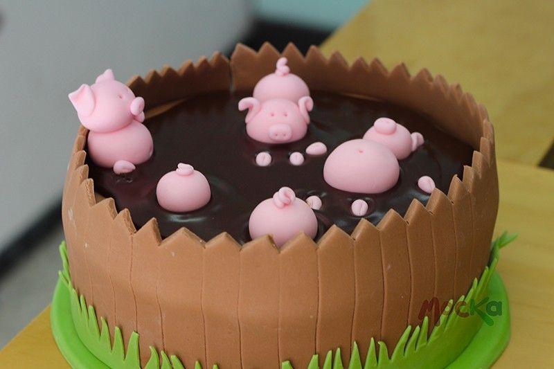 Cerdito Bañándose En Chocolate Cupcakes Cupcakes Infantiles Tortas