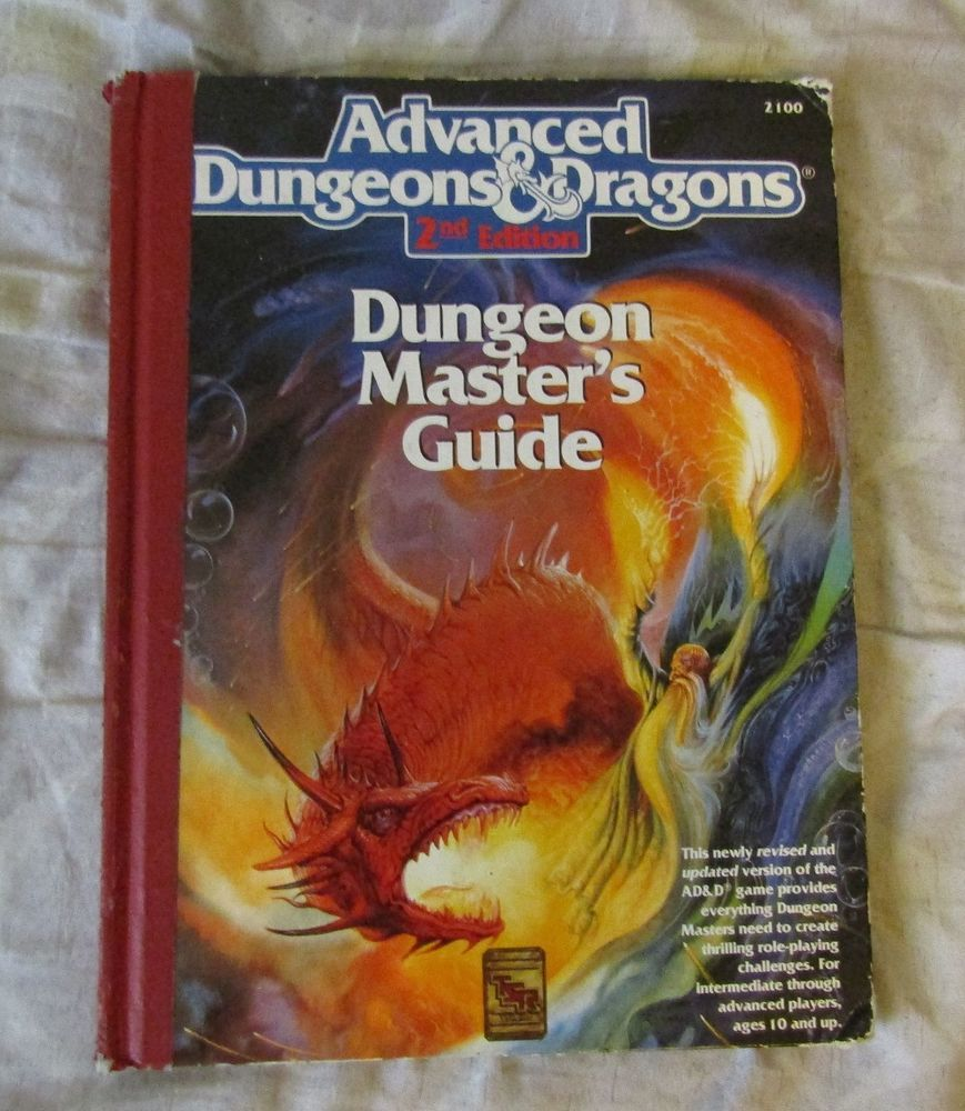 Advanced Dungeons and Dragons 2nd Edition. Dungeon Masters Guide Book #TSR