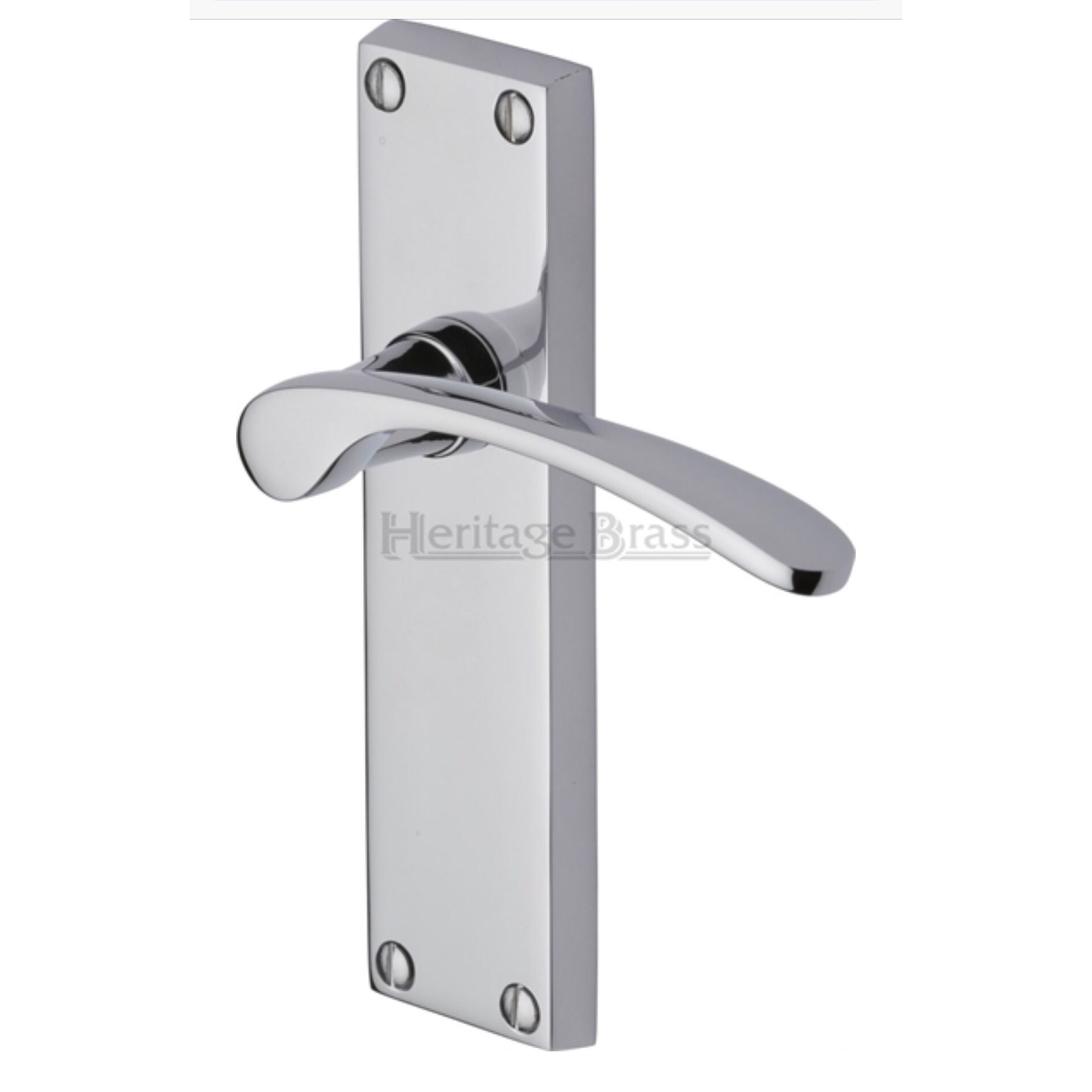 Sophia Door Handle On Backplate Dimensions 155mm X 40mm Supplied In Pairs Supplied With Spindle Screws Available Door Handles Polished Chrome Lever Latch