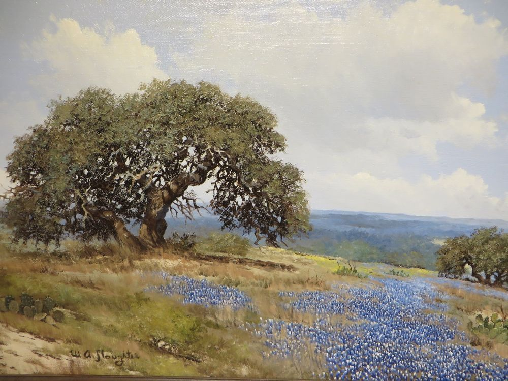 18x24 Original W A Slaughter Oil Painting On Canvas Texas Hill Country Oil Painting Landscape Landscape Paintings Watercolor Landscape Paintings