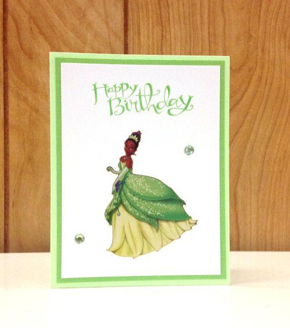OOAK Happy Birthday Disney Princess Tiana Card