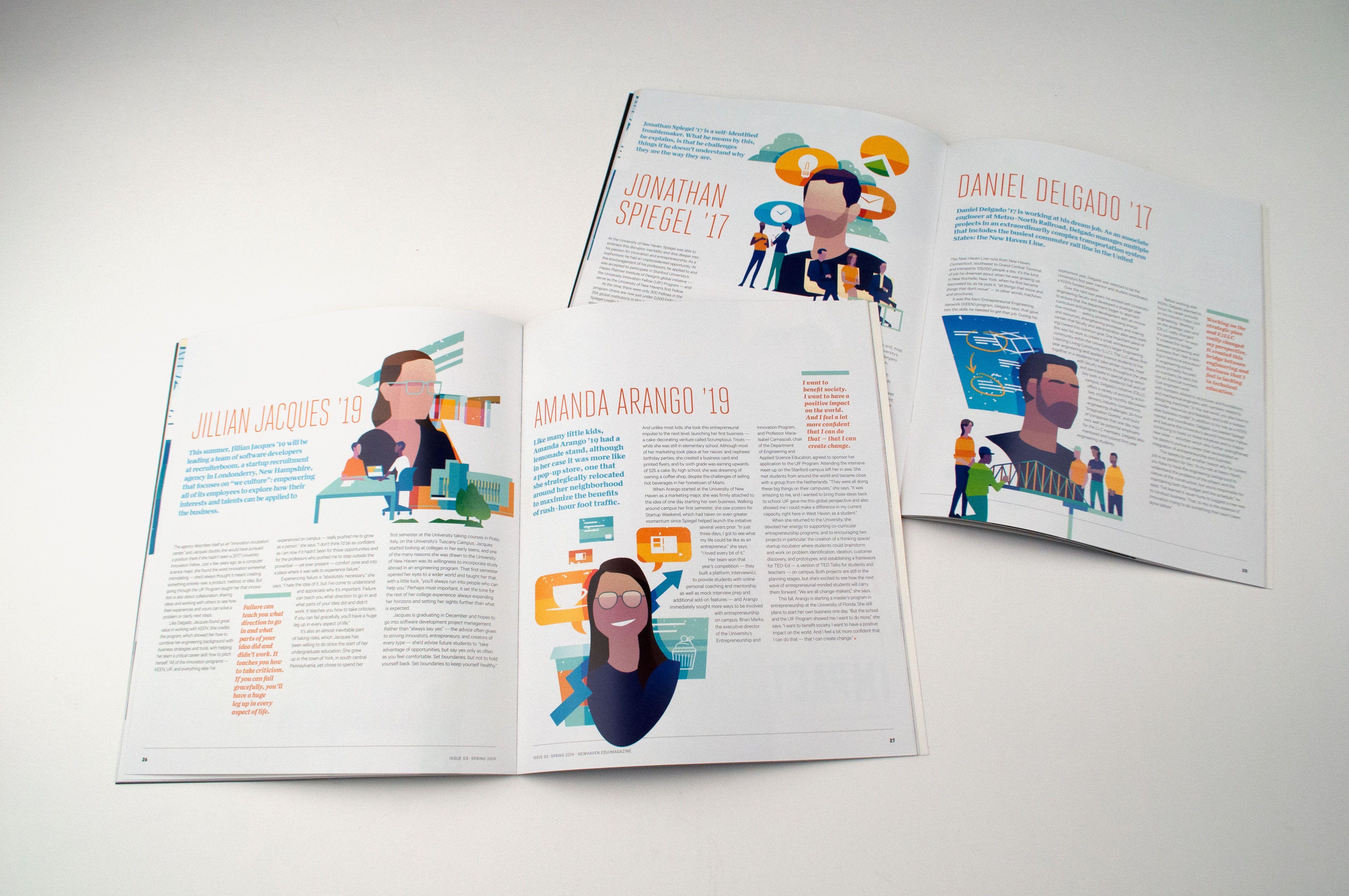 Spring 2019 Issue Of University Of New Haven Alumni Magazine Marketing Consultant Web Design Website Design