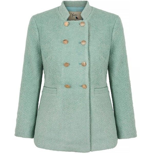 Yumi Double Breasted Pea Coat ($145) ❤ liked on Polyvore ...