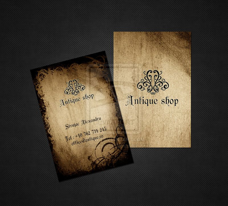Antiques For Antique Business Cards | www.antiqueslink.com