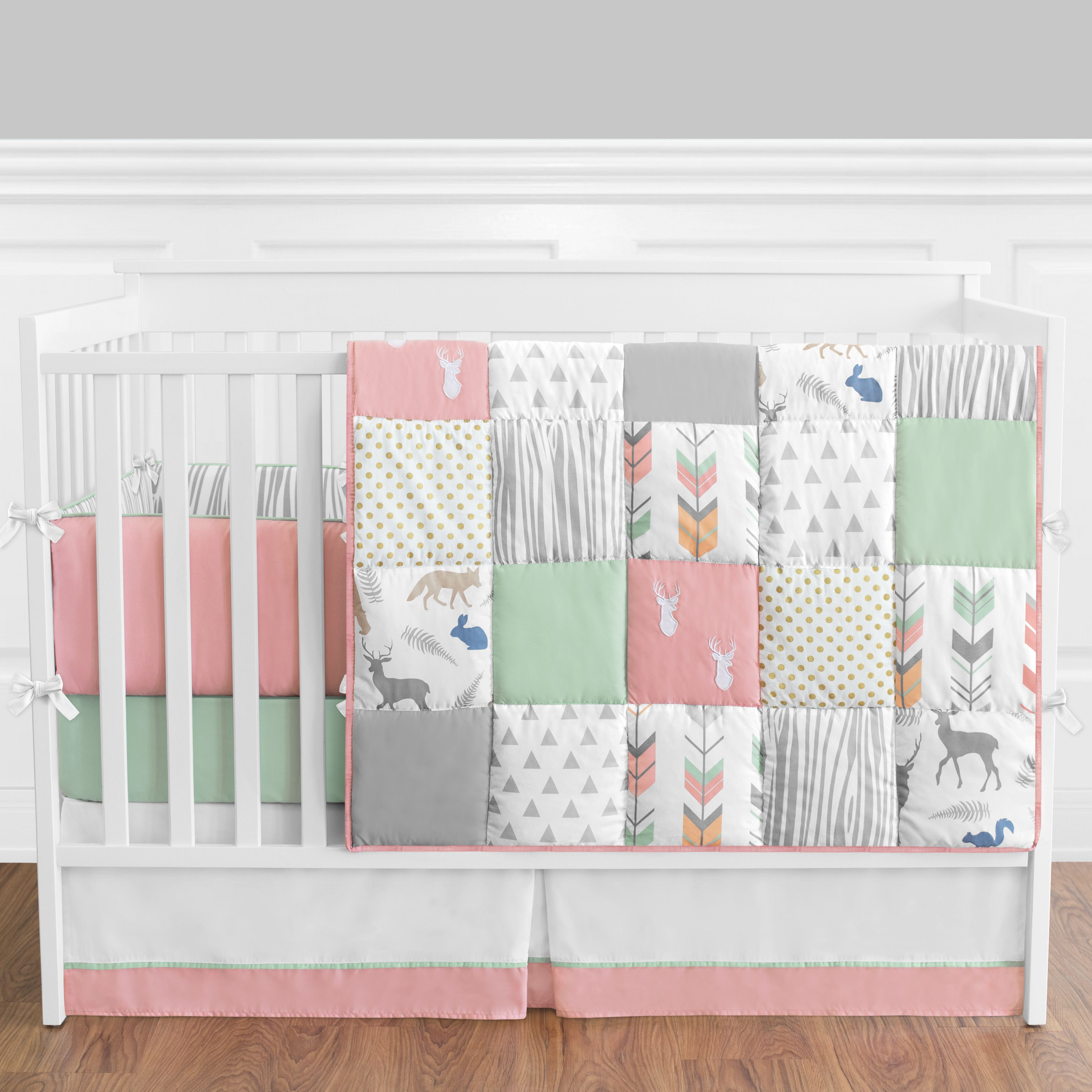 Sweet Jojo Designs Woodsy 9 Piece Crib Bedding Set Baby Sleeping
