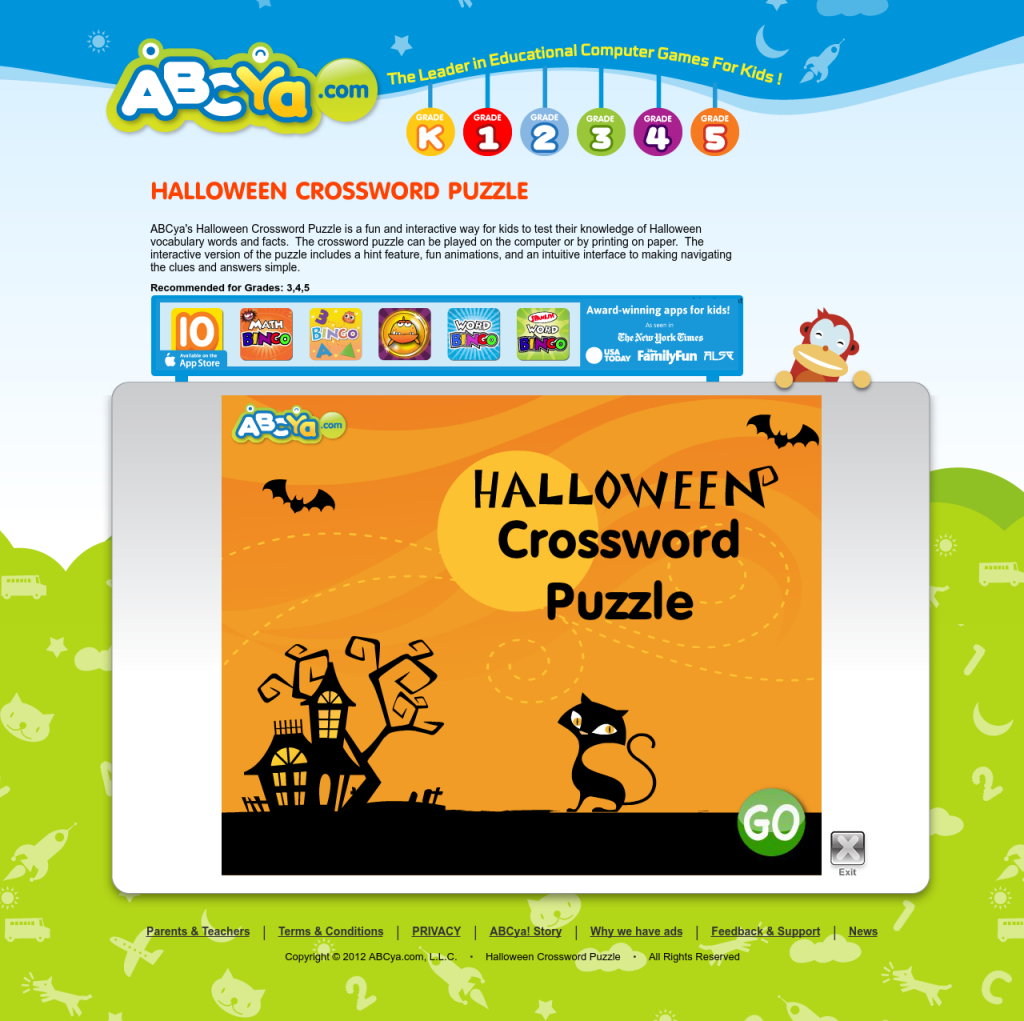 Online Halloween games on http://www.abcya.com ...