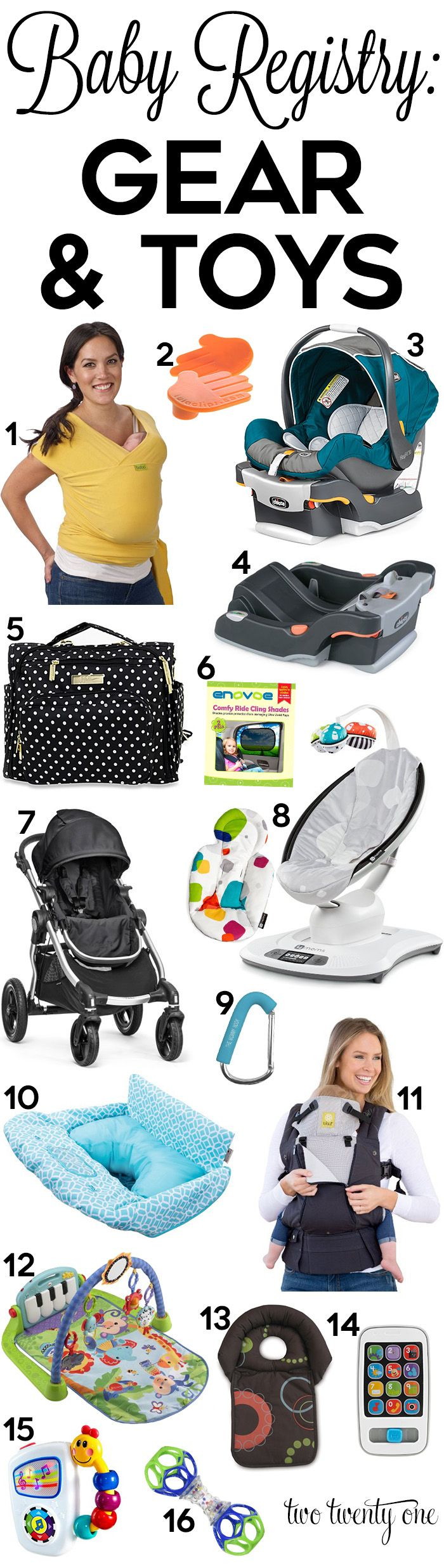 Gear and toys to put on your baby registry! Great ideas!