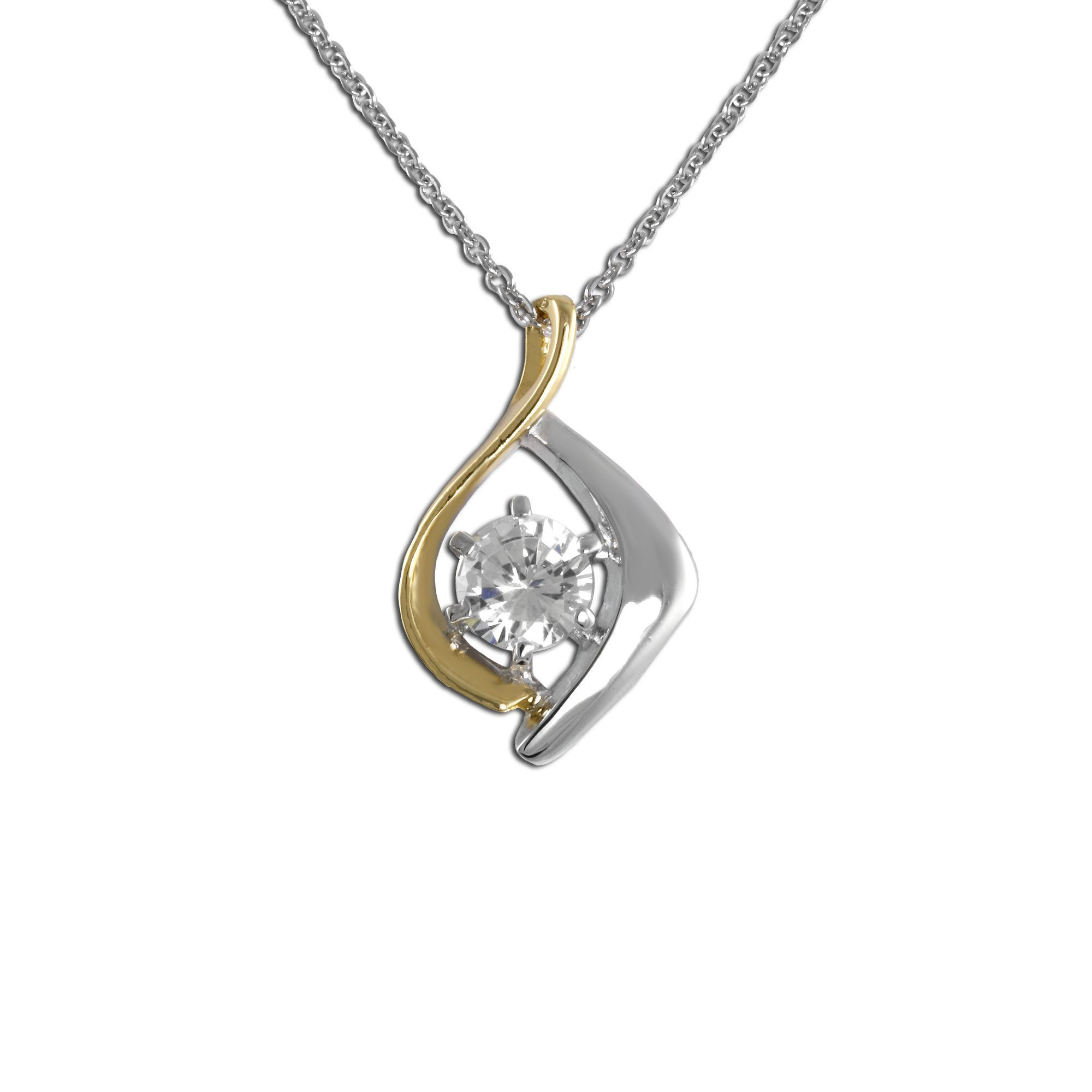 Intertwined tone pendant necklace products pinterest