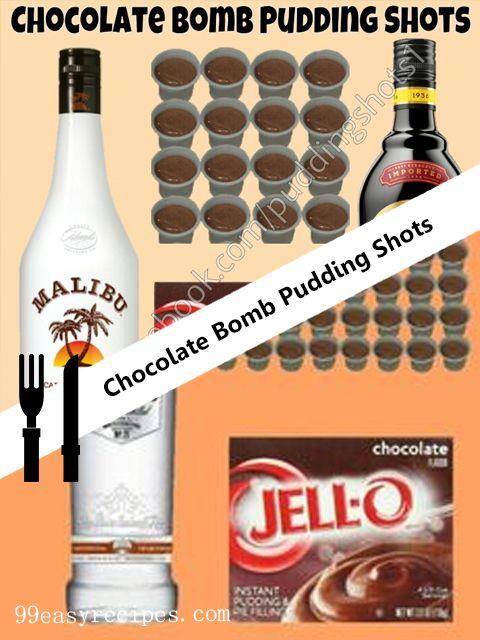 Chocolate+Bomb+Pudding+Shots