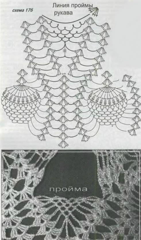 modelo que hace punto de piña | Tejibles | Pinterest | Croché ...
