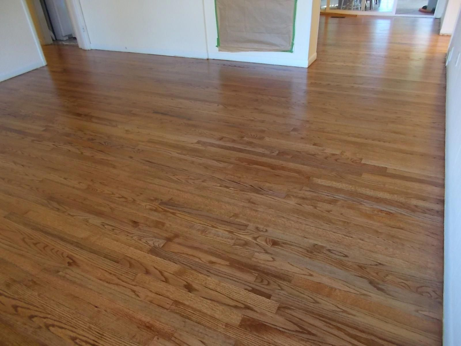 1958 Red Oak Floors Stained With Minwax Early American Satin Finish Polyurethane Hardwoodflooringkitch Red Oak Floors Oak Floor Stains Wood Floor Finishes