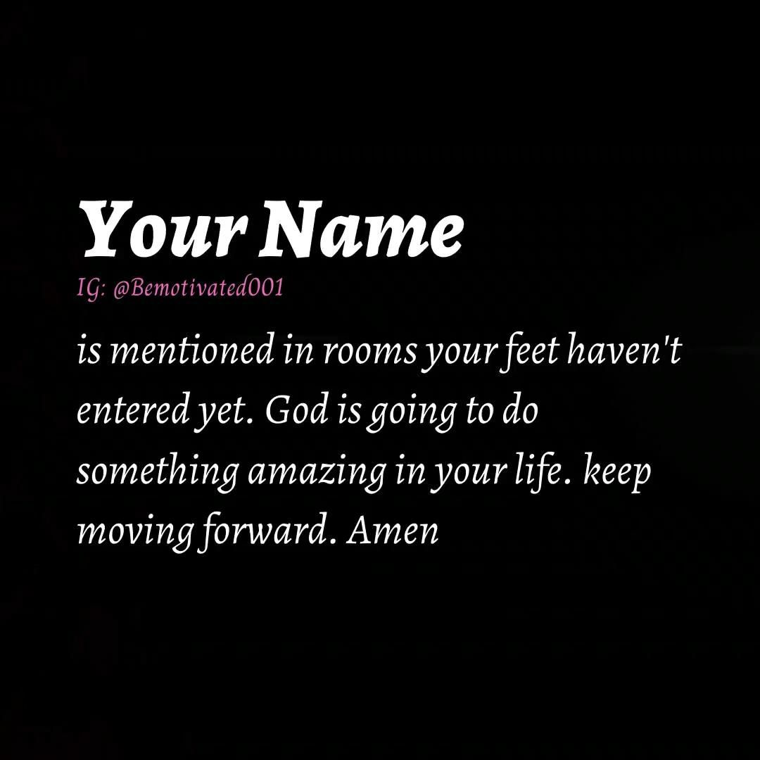 Your Name ...
