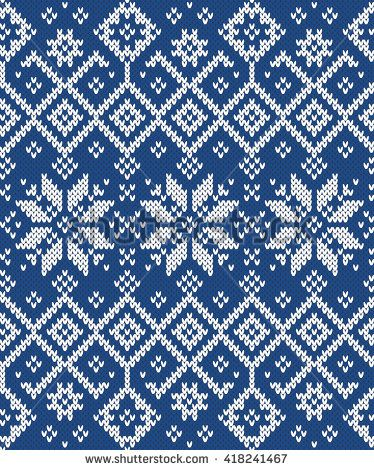 Festive Sweater Design. Seamless Knitted Pattern | Double Knit and ...