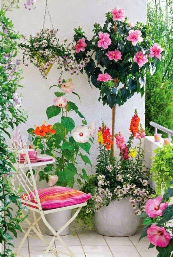 Decoracion De Terrazas Con Plantas Y Flores