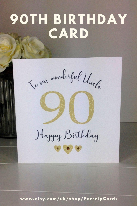 90th Birthday Card Male Dad Grandad Brother Husband Cousin Etsy In 2020 Husband Birthday Card 90th Birthday Cards Birthday Cards
