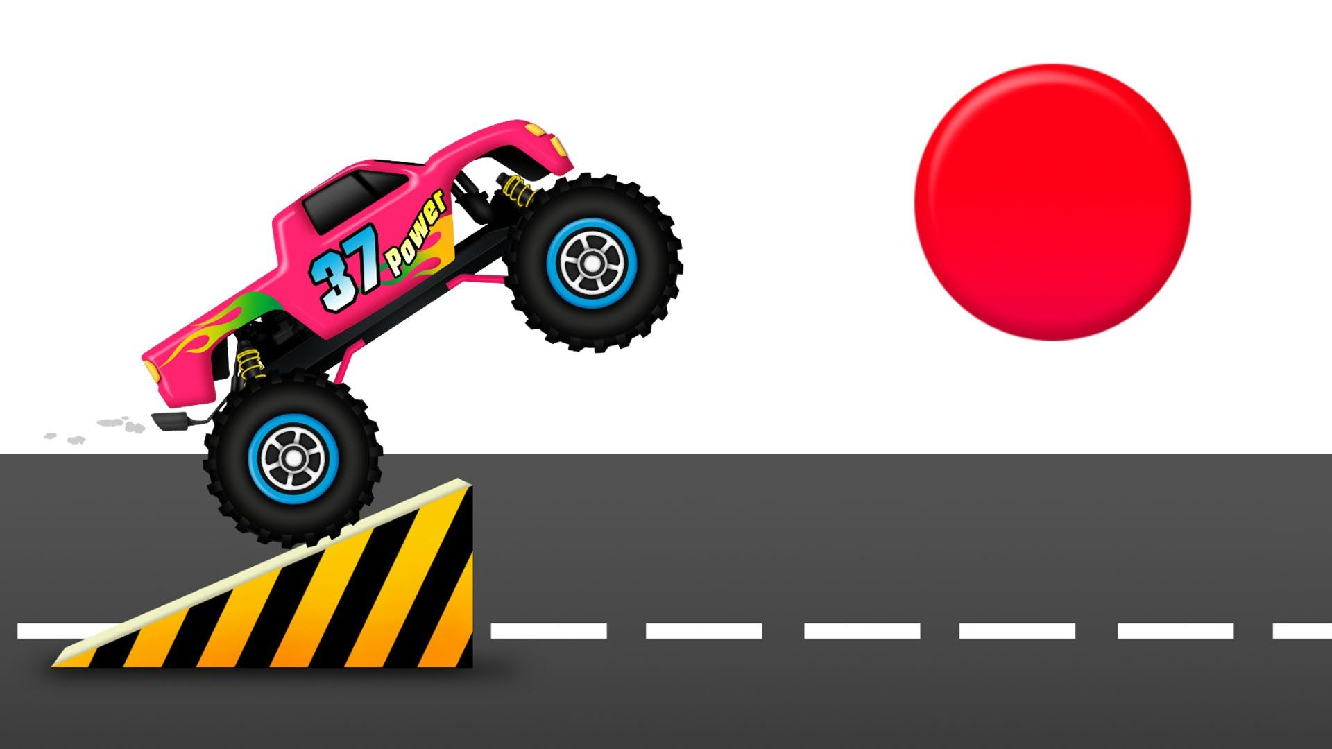Colors for Kids to Learn with Monster Trucks Loading a Lot of 3D Color B.