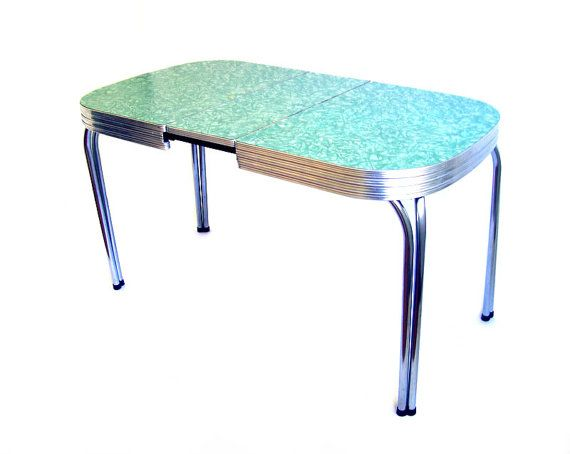 Vintage Formica Table Mint Green Formica Dinette By Stonesoupology - Chrome and formica dinette sets