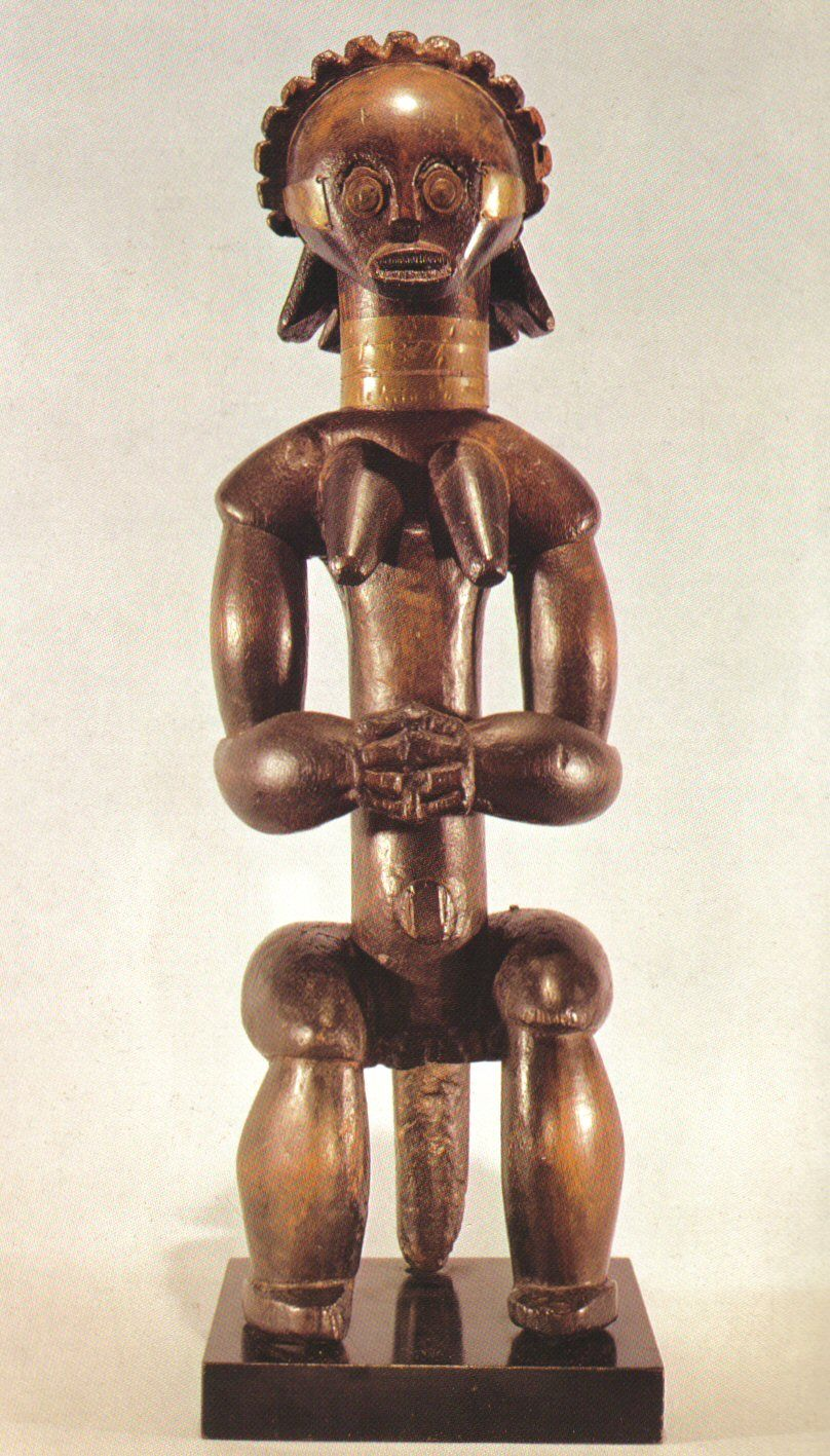#179. Fang Reliquary Figure. Wood. 19th-20th . Ce. Cameroon. Rand African Art Ap History