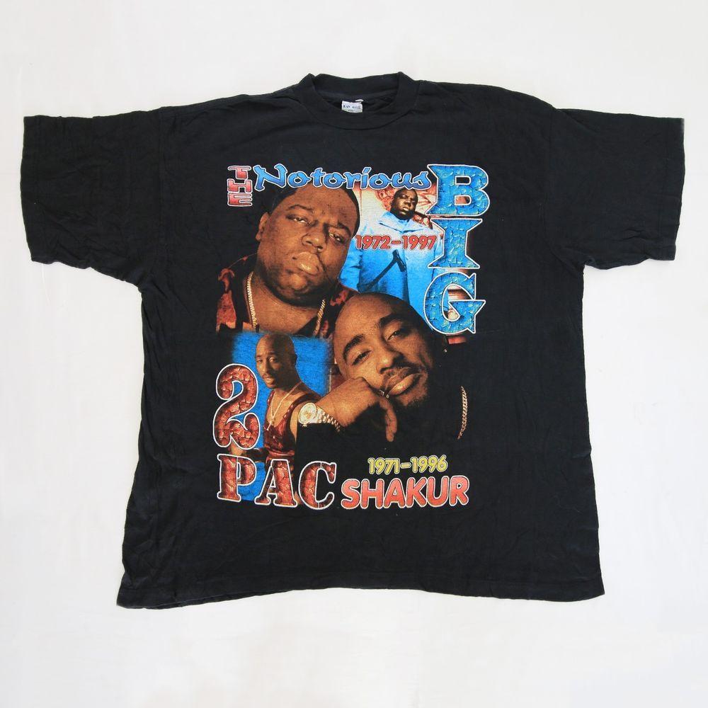 38a842c98 Vtg 90s Bootleg 2Pac Tupac Makaveli Shakur Notorious BIG T Shirt Hip Hop  Rap Tee #tupac #tshirt