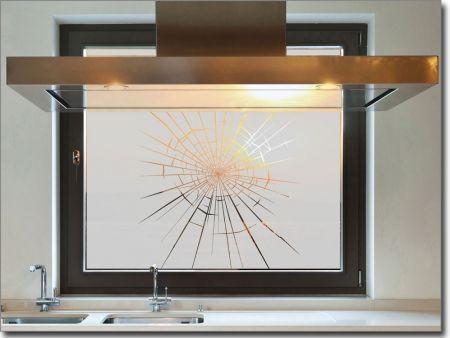 Folie für Fenster Splitter, Aufkleber zum Sichtschutz Haus