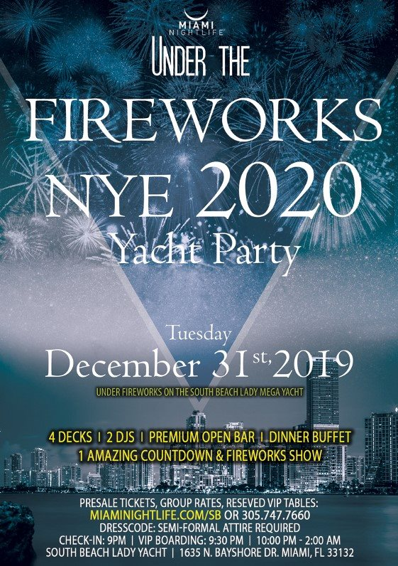 RA Miami Under the Fireworks Yacht Party New Year's Eve