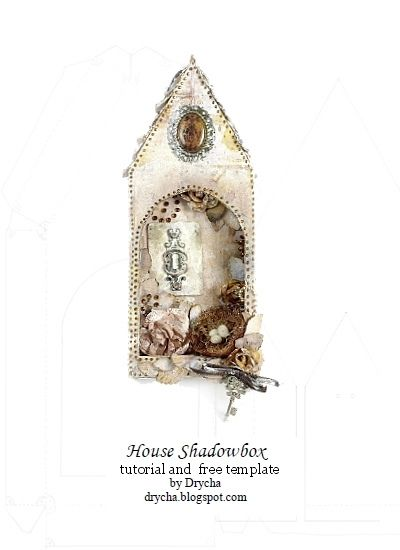 house shadowbox tutorial and template | Flickr