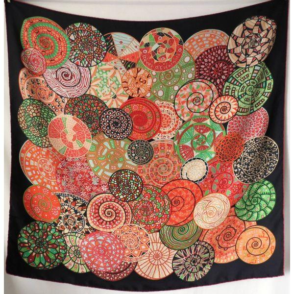 carré hermès reves d escargots Christine henry reves d escargot hermes silk  scarf 0a4a011bb2b
