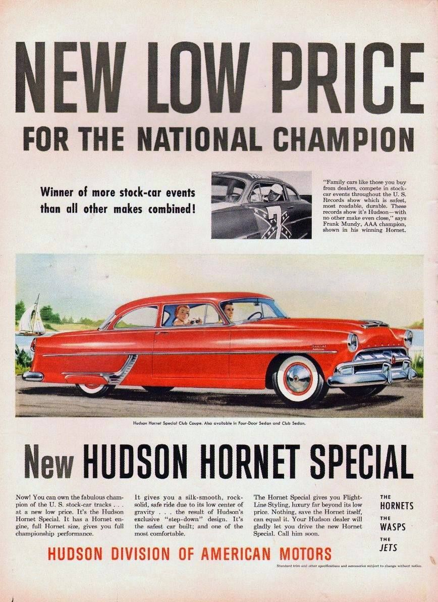 1954 Hudson Hornet Special Advertisement Automobile