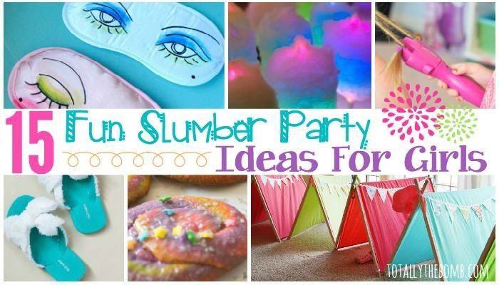 15 Fun Slumber Party Ideas for Girls - Slumber party games, Girls slumber party, Slumber parties, Hotel sleepover party, Sleepover party games, Party girls - Let your daughter get her fun on with these 15 Fun Slumber Party Ideas for Girls