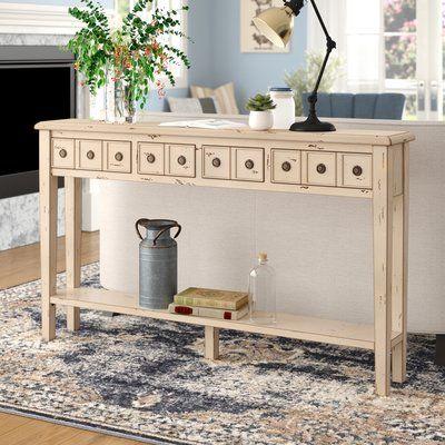 laurel foundry modern farmhouse ambrosia console table color cream rh pinterest at