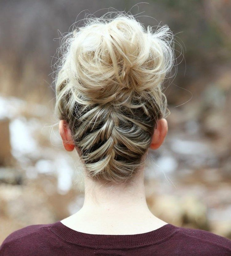 Wedding Hairstyles Bun With Braid: 40 Messy Bun Hairstyles To Refresh Your Casual Look